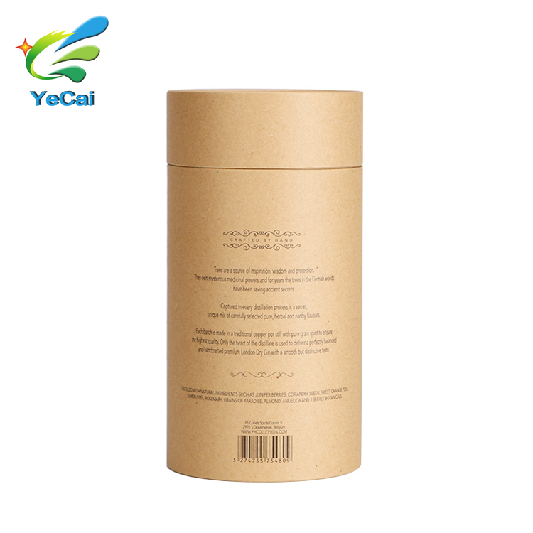 Fancy chocolate paper box tube chocolate packaging box food grade chocolate cylinder box