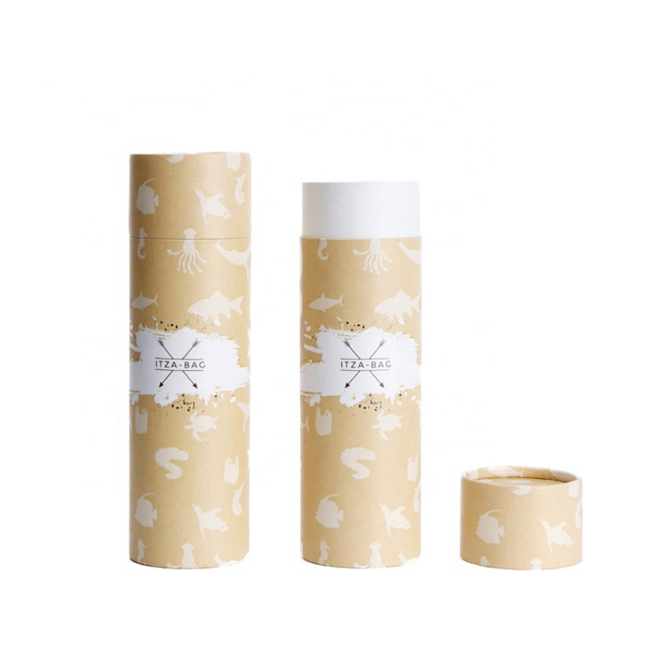 round kraft paper box/ cylinder craft paper round kraft paper tube packaging