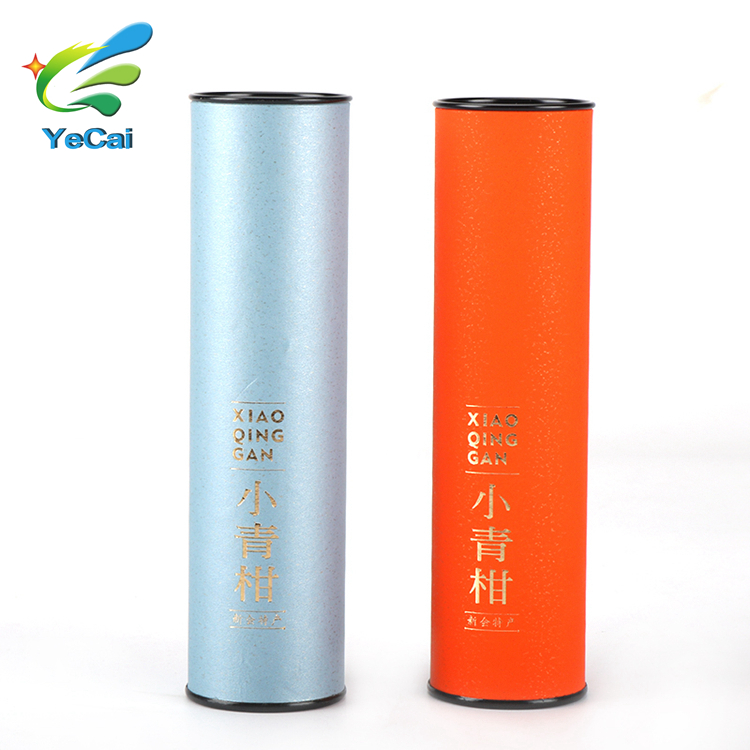 cylinder tall round box tea gift packaging cardboard box/cylindrical shape paper tea box