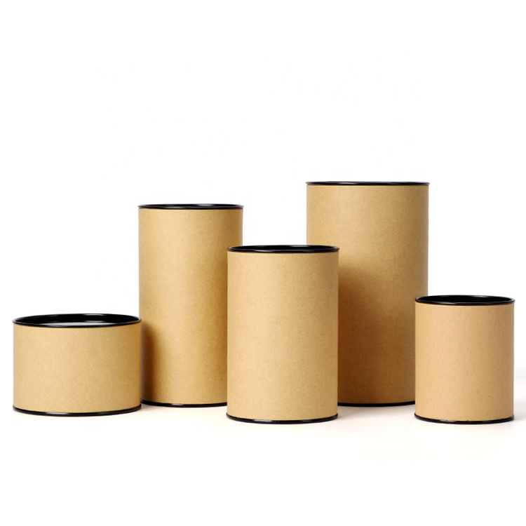 Custom Multi-size kraft tube Paper Round Tube tea cans Factory Supplier paper tube packaging
